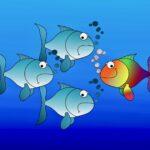 流れに逆らって泳ぐ魚